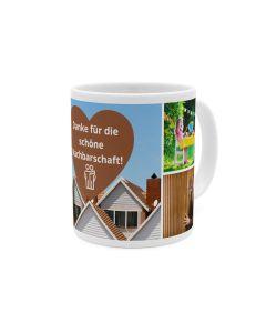 Kaffeebecher weiß Nachbar