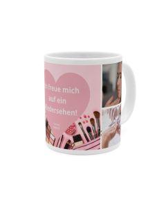 Kaffeebecher weiß Kosmetik