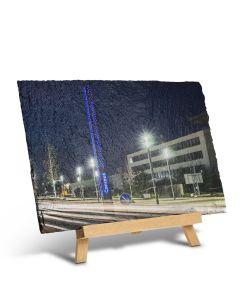Schieferplatte mit Staffelei (30 x 20 cm)